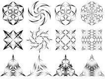 Vector линии знаки и символы черноты современного дизайна Стоковое фото RF
