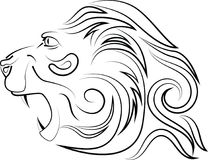 Vector логотип головы ` s льва иллюстрация вектора