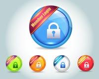 Vector лоснистая кнопка иконы имени пользователя члена Стоковое Изображение RF