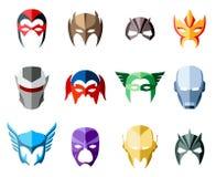 Vector маски супергероя для характера стороны в квартире бесплатная иллюстрация