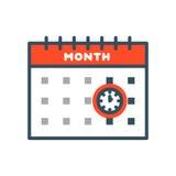 Vector назначение плана бумаги графика дела организатора офиса значка сети календаря и элемент напоминания пиктограммы для Стоковая Фотография RF