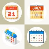 Vector назначение плана бумаги графика дела организатора офиса значков сети календаря и элемент напоминания пиктограммы для Стоковые Изображения RF
