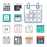 Vector назначение плана бумаги графика дела организатора офиса значков сети календаря и элемент напоминания пиктограммы для иллюстрация вектора