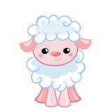 Vector овечка иллюстрации милая в шарже стиля Стоковое Изображение