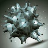 Vector осложненная 3d диаграмма, современный стиль цифровой технологии Стоковая Фотография RF
