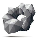 Vector осложненная 3d диаграмма, современный стиль fo цифровой технологии Стоковая Фотография RF