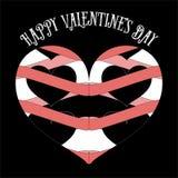 Vector поздравительная открытка дня валентинок винтажная ретро минимальная Стоковая Фотография