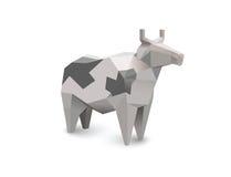 Vector полигональная иллюстрация коровы белизны и черноты Стоковая Фотография RF