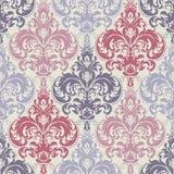 Vector предпосылка картины штофа безшовная Классический роскошный старомодный орнамент штофа, королевская викторианская безшовная бесплатная иллюстрация