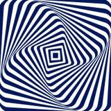 Vector предпосылка иллюстрации голубая белая геометрическая увеличивать и поворачивать квадрат с округленными углами, создаваясь Стоковые Фотографии RF