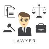 Vector предпосылка концепции юриста, юриста или юриста Стоковые Фото