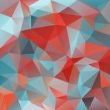 Vector предпосылка полигона с скачками картиной тесселяций - триангулярным дизайном в ярких цветах Стоковое Изображение RF