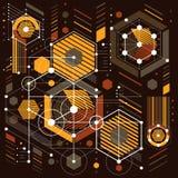Vector предпосылка промышленных и инженерства, будущий технический p иллюстрация вектора