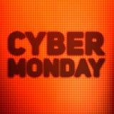 Vector предпосылка продажи понедельника кибер с сияющими точками Vector иллюстрация на запачканной предпосылке оранжевого цвета Стоковое Фото