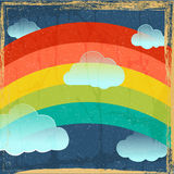 Vector предпосылка радуги год сбора винограда Стоковые Фото