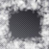 Vector прозрачное изолированное влияние рамки тумана на темной предпосылке Стоковое Фото