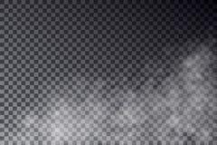 Vector прозрачное изолированное влияние тумана на темной предпосылке Стоковая Фотография