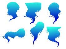 Vector пузырь шаржа, bublle с формой выплеска воды, влияние комиксов воды иллюстрация штока