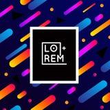 Vector плакат, шаблон знамени современного стиля Жидкие цвета, предпосылки Мемфиса Стоковая Фотография RF