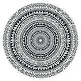 Vector племенная фольклорная ацтекская геометрическая картина в круге иллюстрация вектора