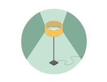 Vector равновеликая иллюстрация лампы пола, плоского элемента дизайна интерьера 3d Стоковая Фотография RF