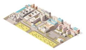 Vector равновеликий infographic элемент представляя низкую поли карту Берлина, Германии Стоковое Изображение RF