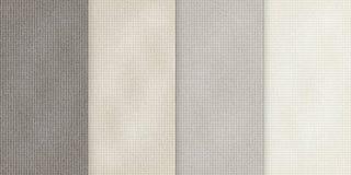 Vector различные бежевые предпосылки цвета, реалистическая иллюстрация ткани, комплект вертикальных знамен с текстурой дерюги Стоковая Фотография RF