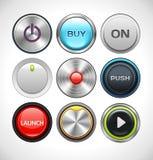 Vector разные круглые кнопки Стоковое Изображение RF