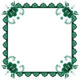 Рамка с стилизованный цветками Стоковое Изображение