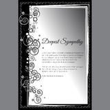 Vector самая глубокая карточка сочувствию с элегантным абстрактным флористическим мотивом Стоковые Фотографии RF