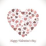 Vector сердце сердец на белой предпосылке Стоковое Изображение