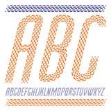 Vector сконденсированные столицей современные письма алфавита, комплект abc кругло бесплатная иллюстрация