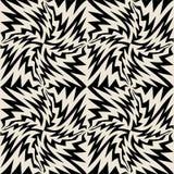 Vector современная безшовная картина геометрии, черно-белый конспект Стоковые Фото