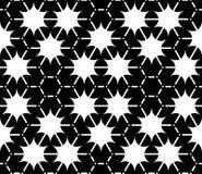 Vector современная безшовная картина геометрии, черно-белый конспект Стоковое Изображение RF