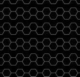 Vector современная безшовная картина геометрии, черно-белый конспект Стоковые Фотографии RF
