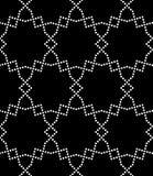 Vector современная безшовная картина геометрии, черно-белый конспект Стоковое фото RF