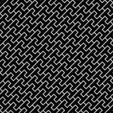 Vector современная безшовная картина h геометрии, черно-белый конспект Стоковые Фотографии RF