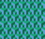 Vector современная безшовная красочная картина куба геометрии, конспект цвета Стоковое Изображение
