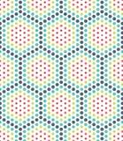 Vector современная безшовная красочная картина точек геометрии, конспект цвета Стоковые Изображения RF