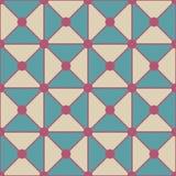 Vector современная безшовная красочная картина точек треугольников геометрии, конспект цвета белый голубой Стоковые Фотографии RF