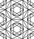 Vector современная безшовная священная звезда картины геометрии, черно-белый конспект Стоковые Изображения
