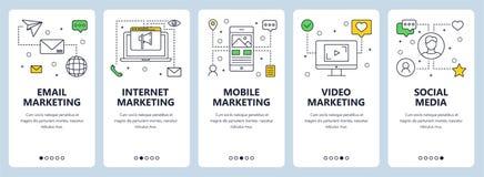 Vector современная тонкая линия знамена сети концепции маркетинга иллюстрация штока