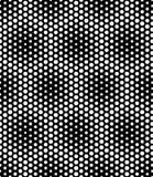 Vector современные безшовные священные точки картины геометрии, черно-белый конспект Стоковые Изображения RF