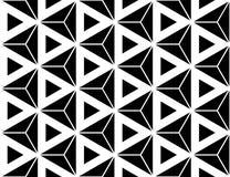 Vector современные безшовные священные треугольники шестиугольника картины геометрии, черно-белый конспект бесплатная иллюстрация