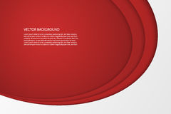 Vector современные простые овальные красные и белые предпосылки Стоковое Изображение
