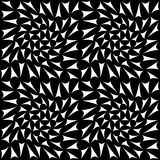 Vector современный безшовный квадрат картины геометрии, черно-белый конспект Стоковые Изображения RF