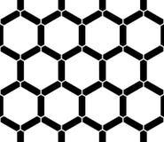 Vector современный безшовный священный сот картины геометрии, черно-белый конспект Стоковые Фото