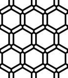 Vector современный безшовный священный сот картины геометрии, черно-белый конспект Стоковые Фотографии RF