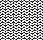 Vector современный безшовный шеврон картины геометрии, черно-белый конспект Стоковые Фотографии RF