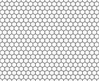 Vector современный безшовный шестиугольник картины геометрии, черно-белый конспект сота Стоковое Изображение RF